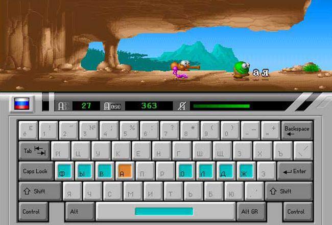 Процесс игры где чудик бежит за главным персонажем игры babytype