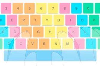 Положение пальцев на клавиатуре